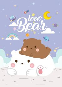 Three Bears Love Light Violet
