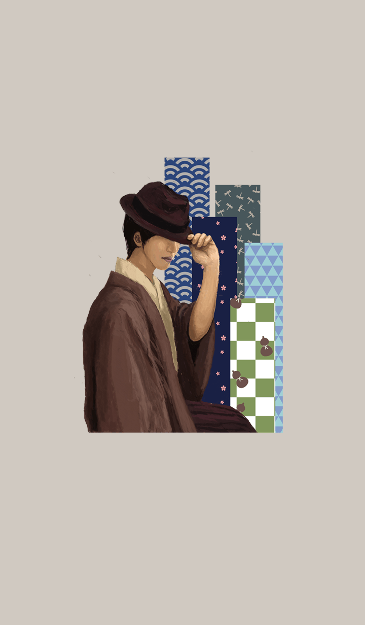 Japanese Patterns and a Man