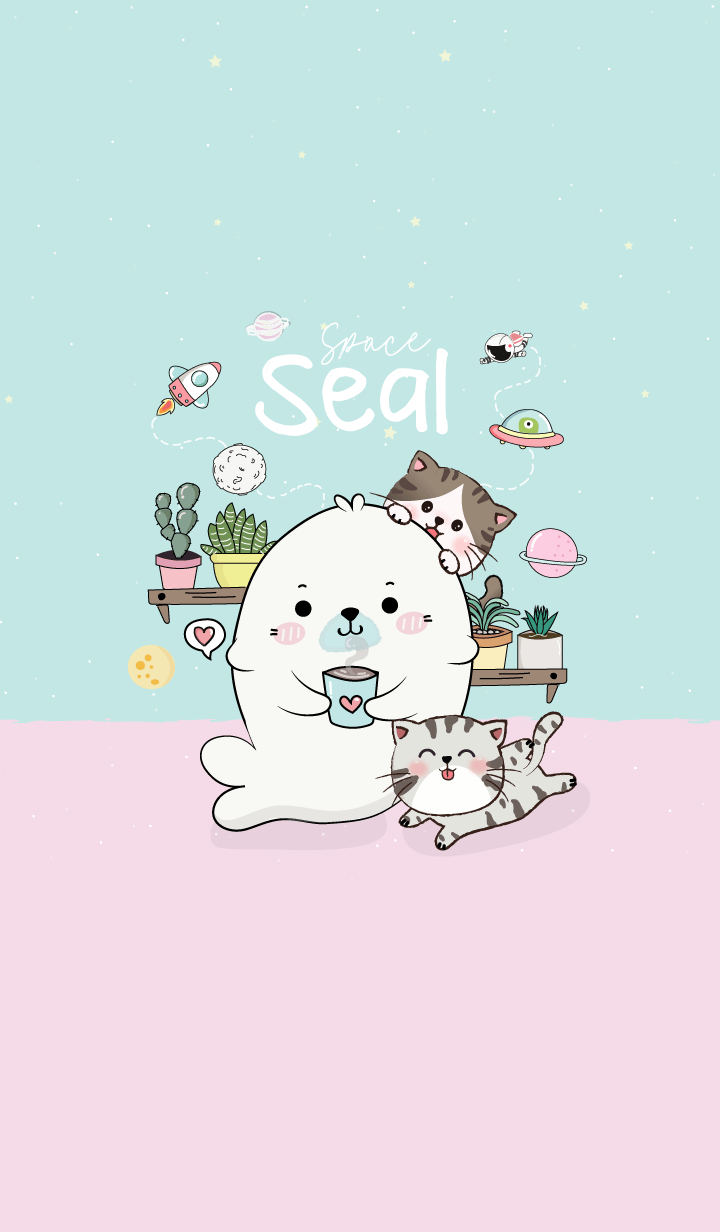 Seal Life on Space. (Blue)