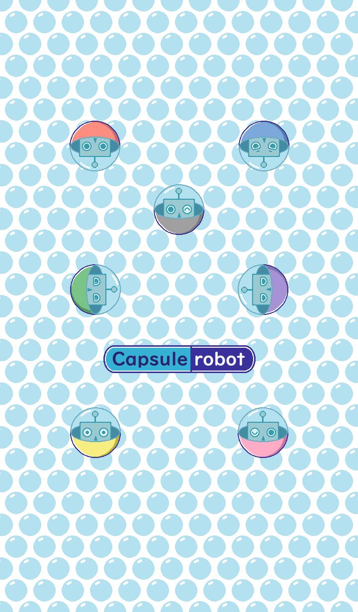Capsule robot / white&gray