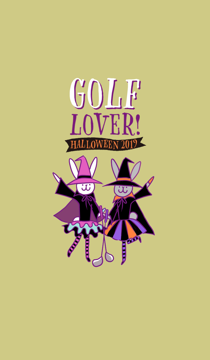 Golf Lover! Play golf in Halloween