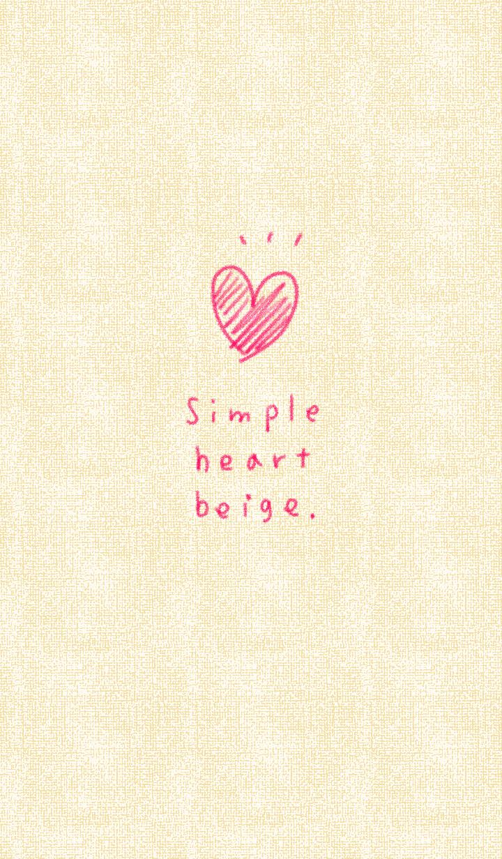 Simple crayon heart