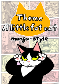 "Theme:""A little fat cat""(manga-style)"