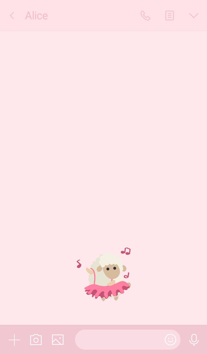 Cute ballet sheep