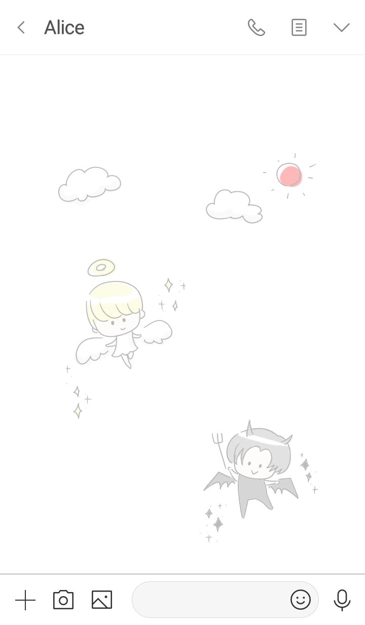 simple angel Demon.