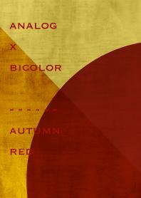 analog x bicolor - autumn red