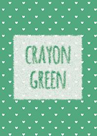 Crayon Green 2 / Heart