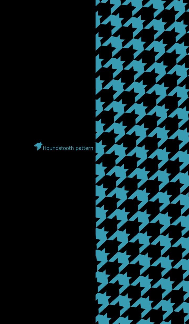 Houndstooth pattern -Black & Blue green-