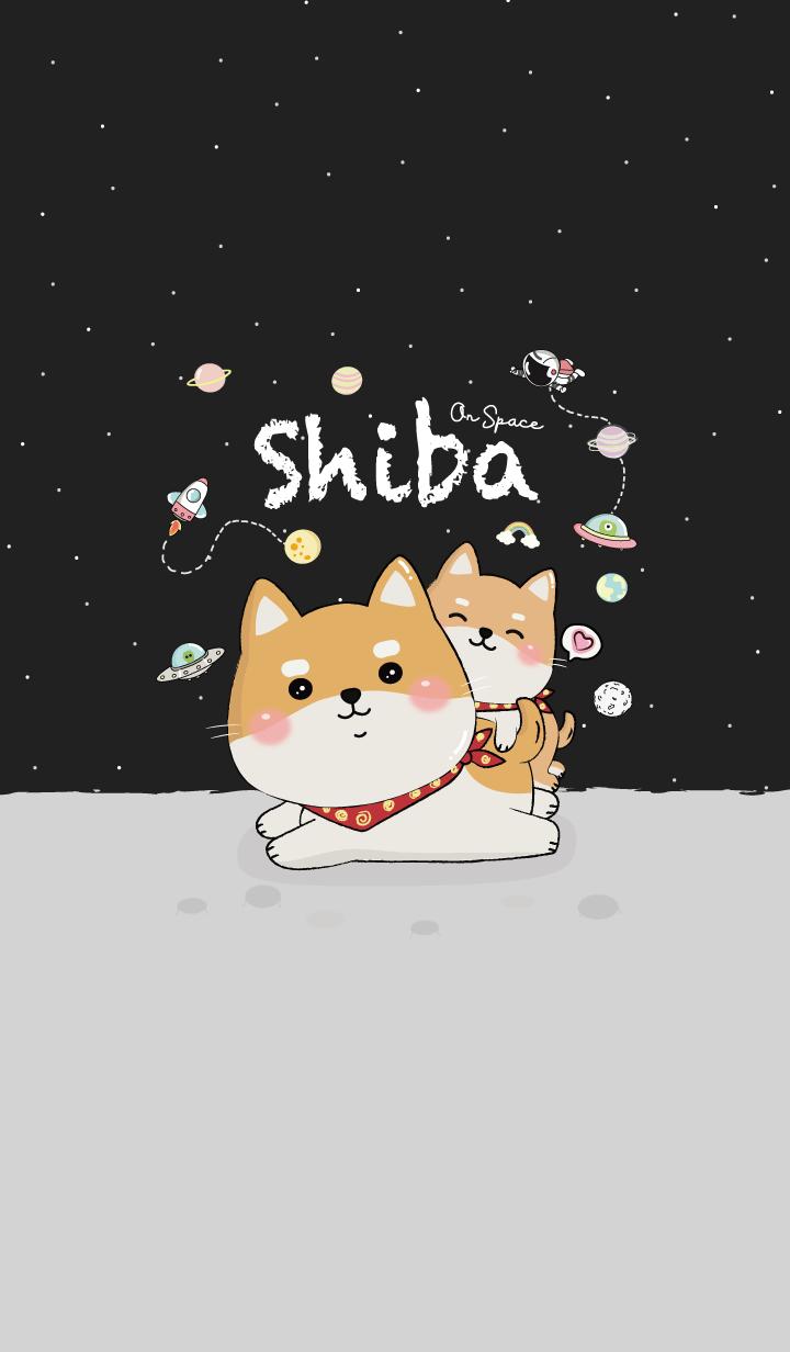 Shiba on Space (Black)