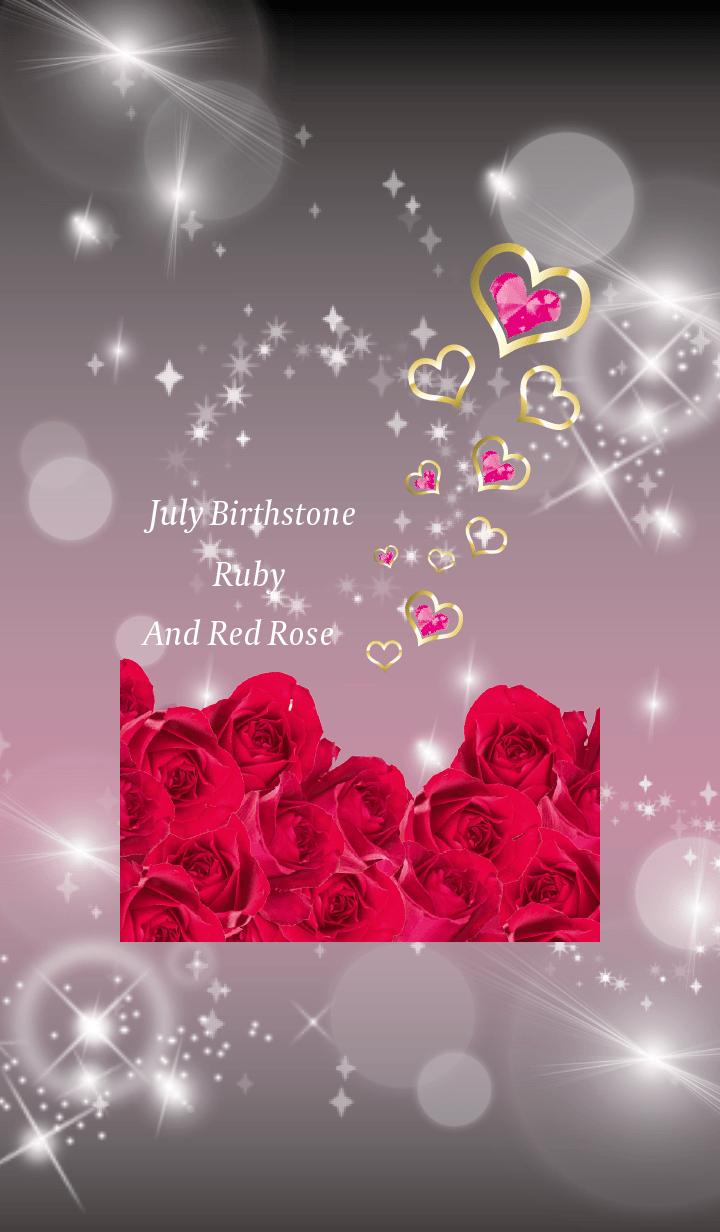 Black Pink : Birthstone July Ruby