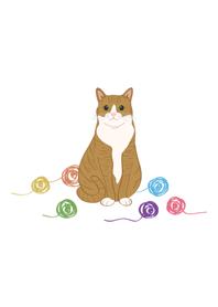可愛毛線球(橘色貓咪)