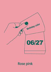Birthday color June 27 simple: