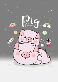 Pig On Space (Gray)