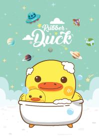 Rubber Duck Like Galaxy Green Mint