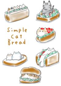 簡單 貓 麵包