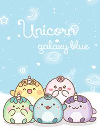 Unicorn on galaxy blue