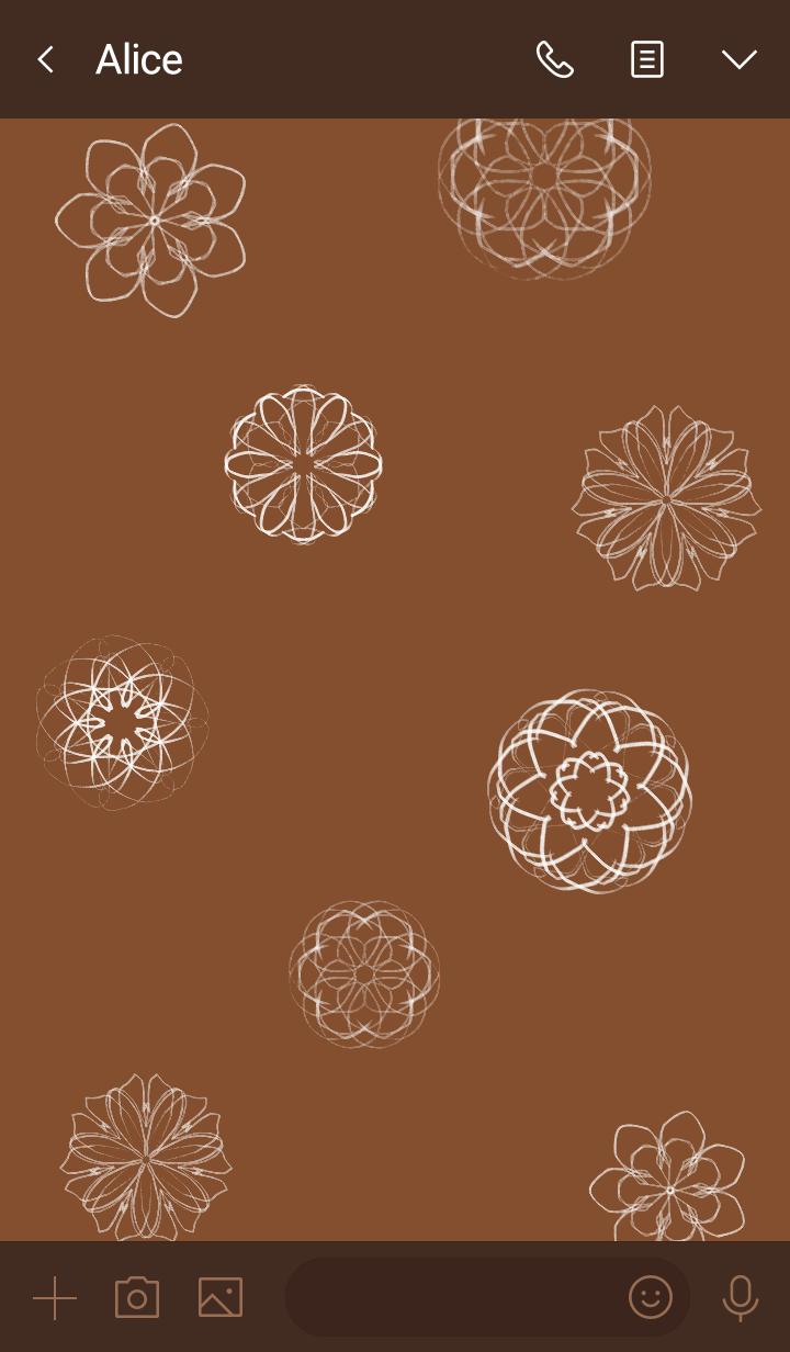 Geometric pattern coffee brown