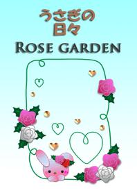Rabbit daily<Rose garden>