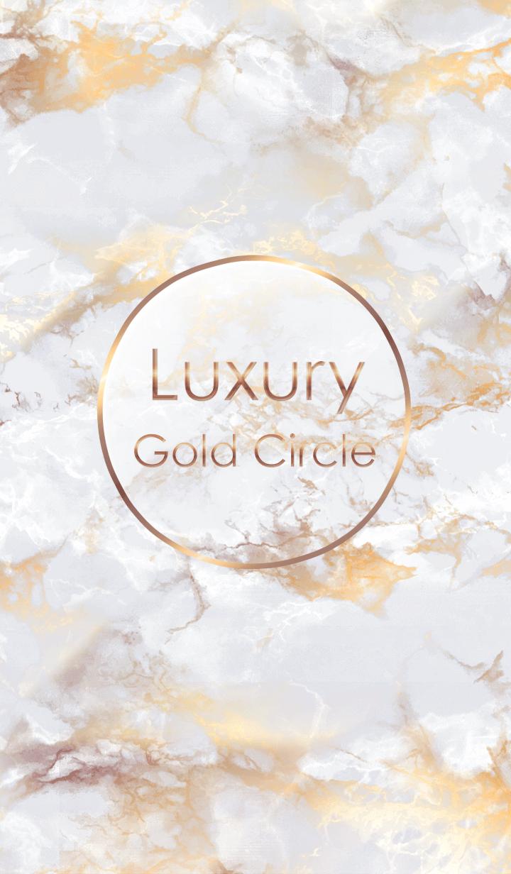 Marble Luxury Gold Circle #White