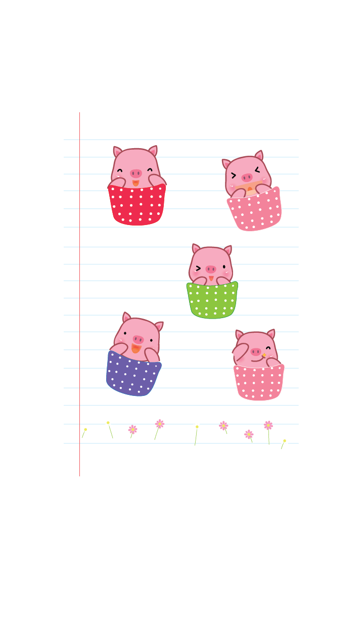 Simple cute pig theme v.11 (JP)