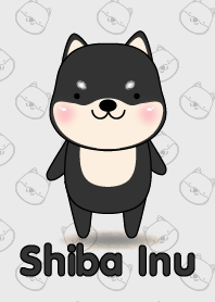 Simple Cute Black Shiba Inu theme