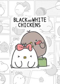 黑白雞-黑白漫畫風