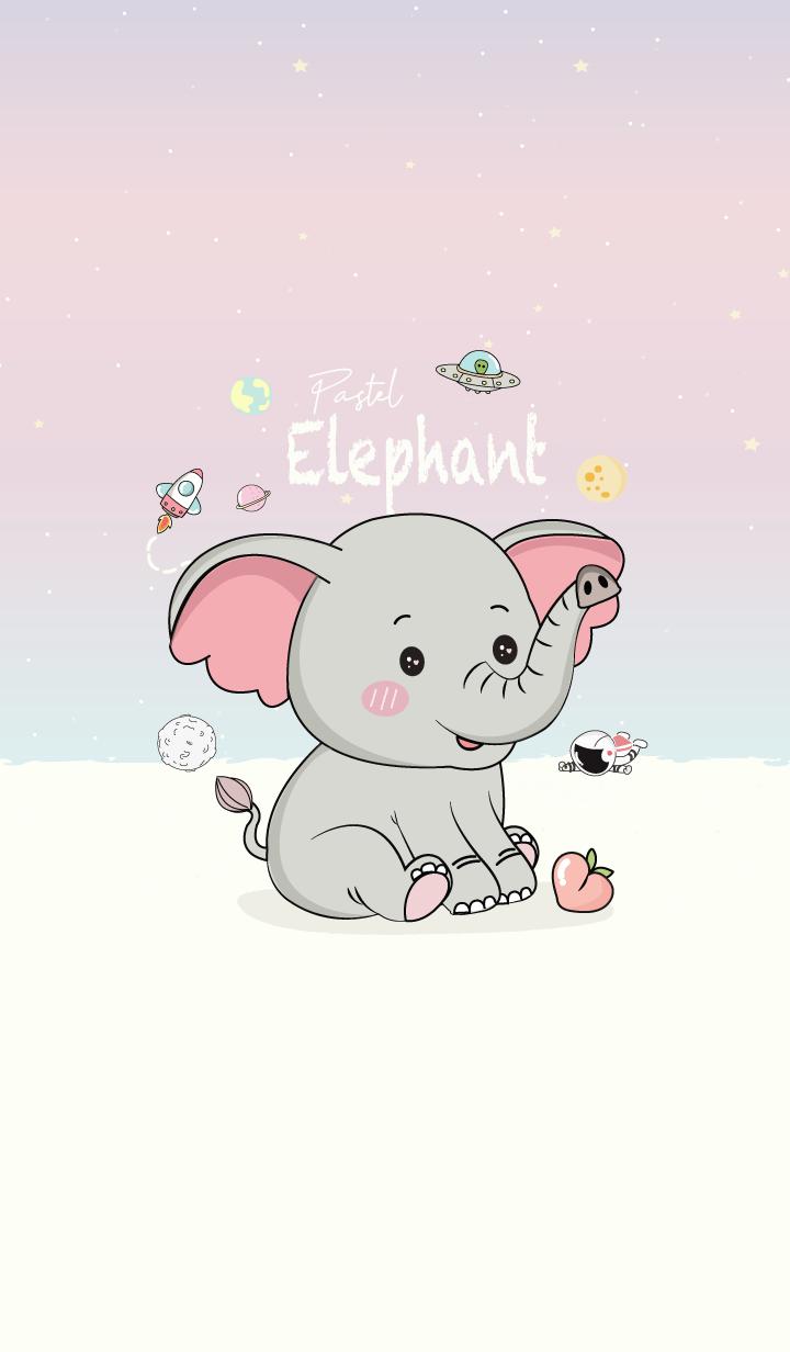 Elephant Space Pastel.