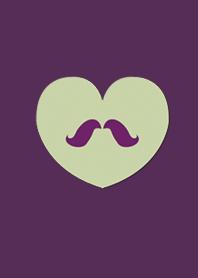 Fashion Beard Purple Green Heart