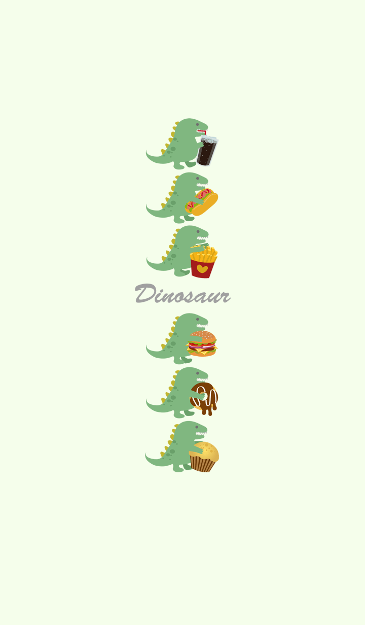 Dinosaurs greedy for food