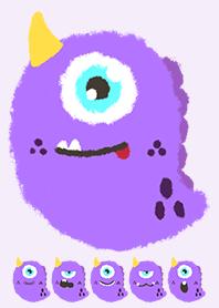 Kawaii purple monster