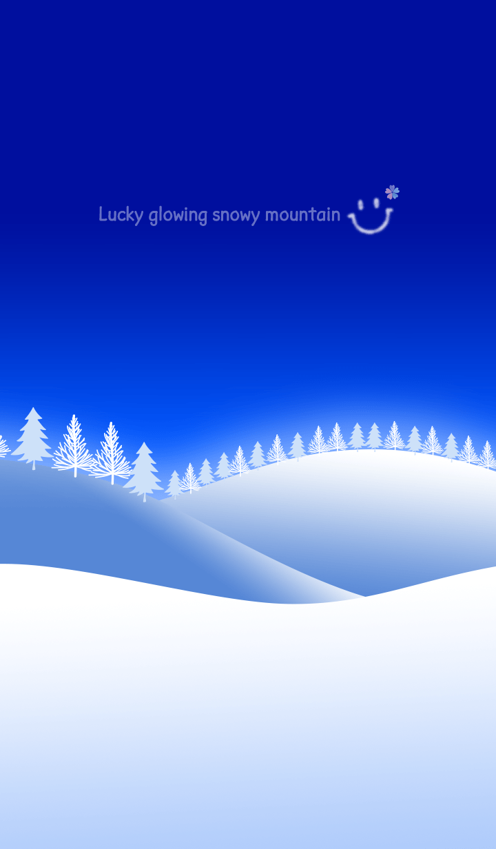 Lucky glowing snowy mountain#2020