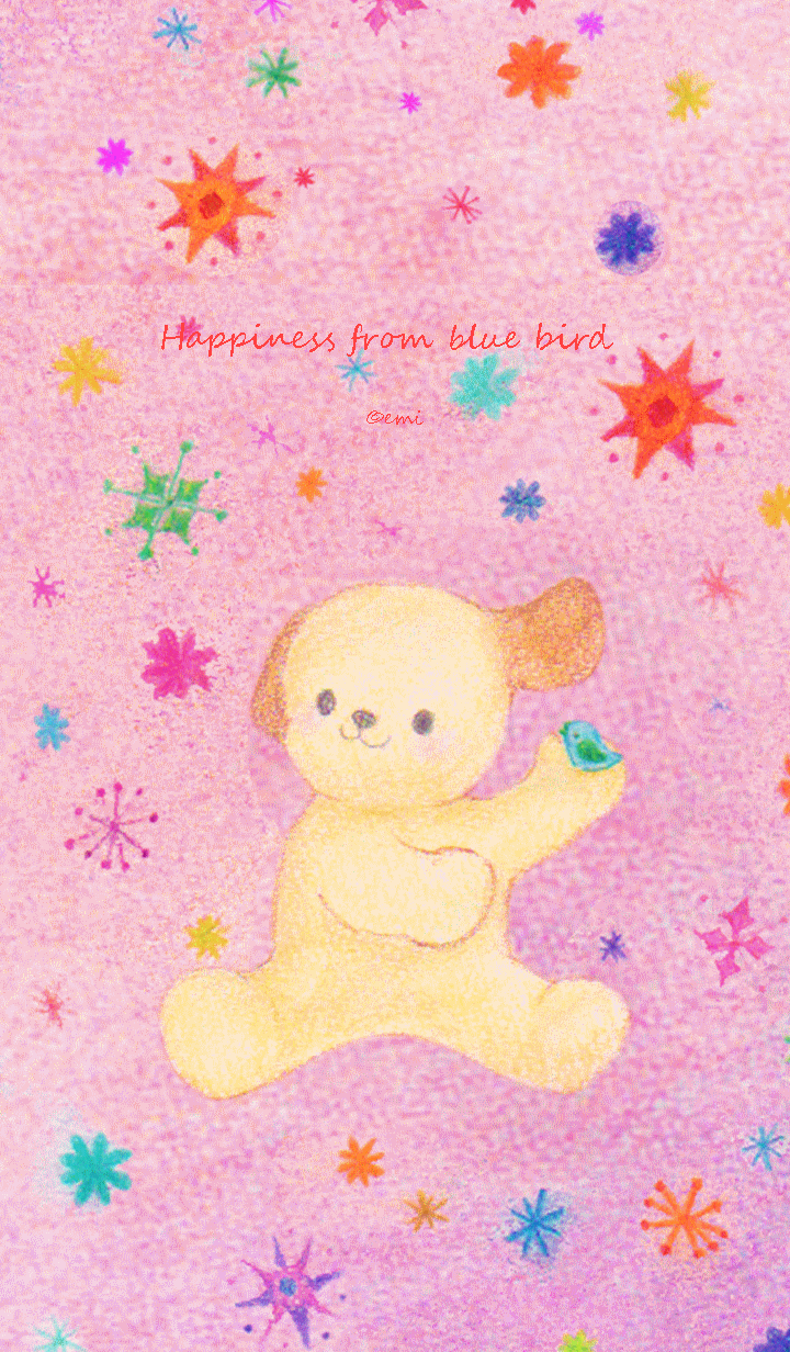 Happiness from blue bird