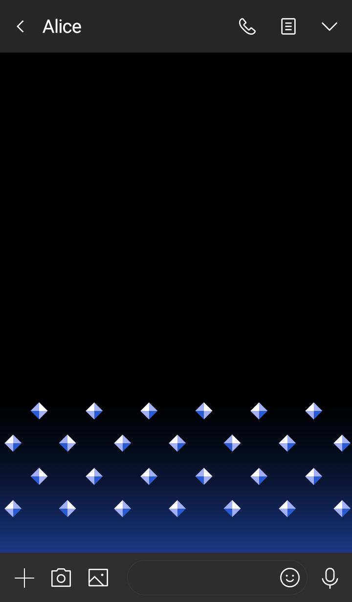 Pyramid studs -Blue-