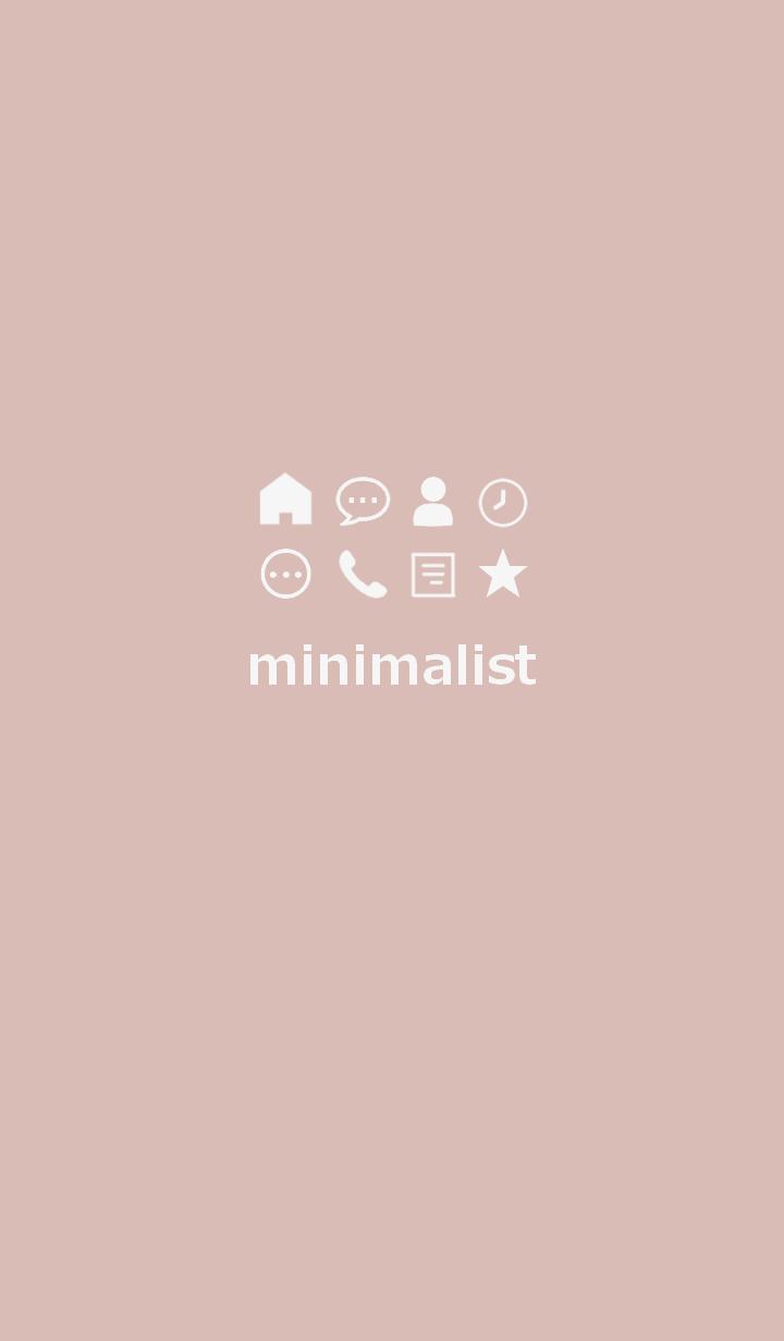 minimalist #pinkbeige2*(JP)