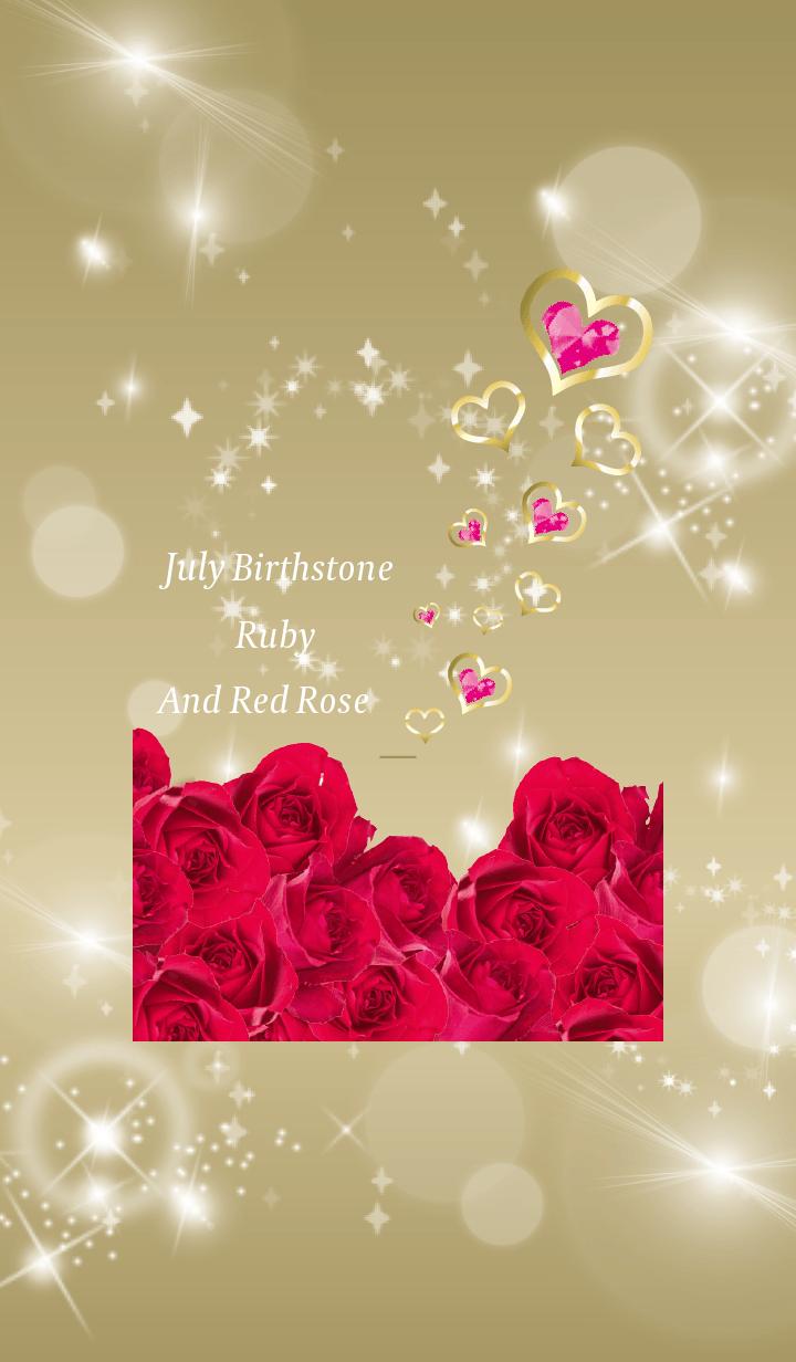 Gold : Birthstone July Ruby