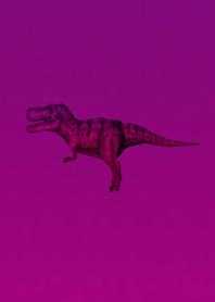 ธีมไลน์ Purple Pink Simple Dinosaur