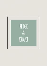 Beige & Khaki (Bicolor) / Line Square