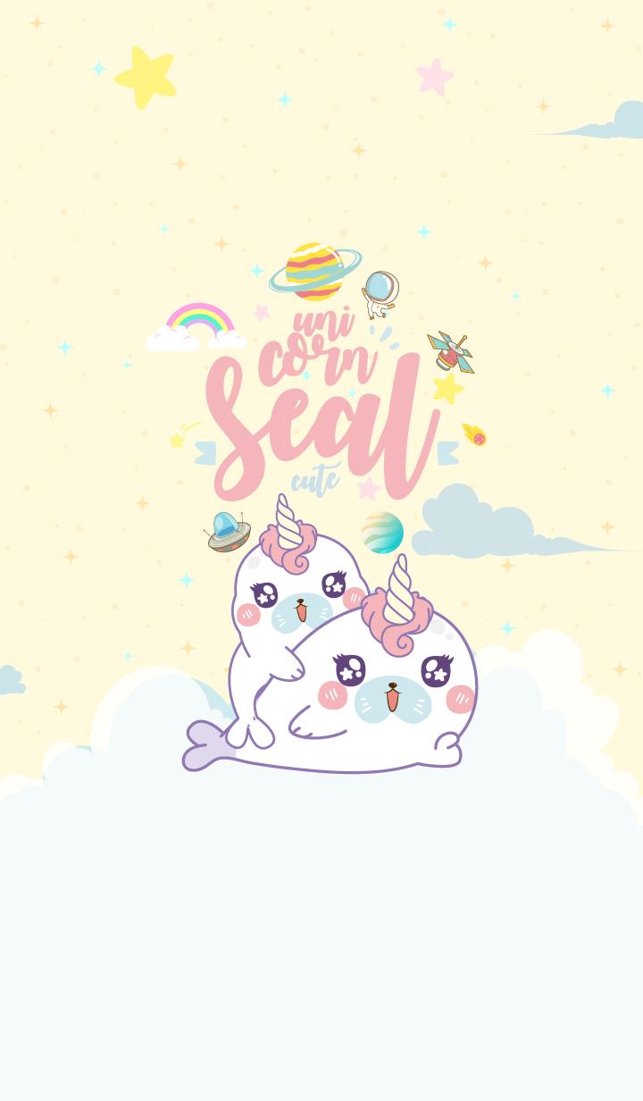 Seal Unicorn Galaxy Cute Cream