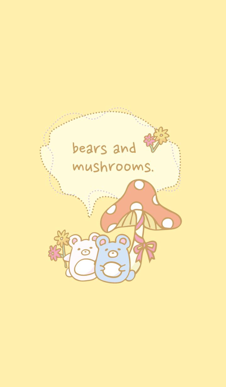 bears and mushrooms.(F)