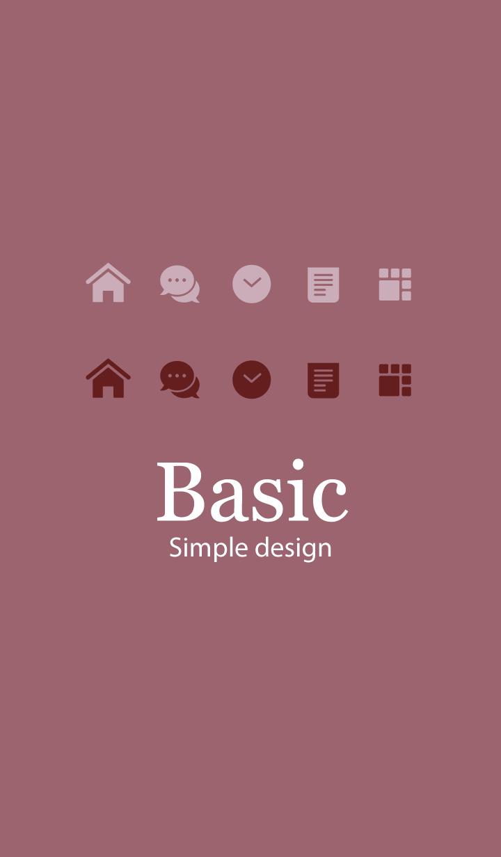 Basic.. [Dusty Dark Pink]