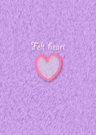 Felt heart-pink/purple-
