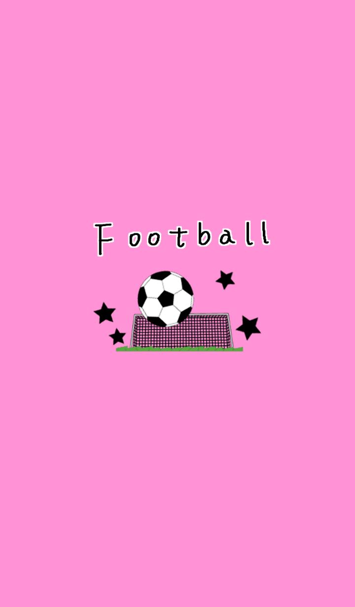 football illustrate pink