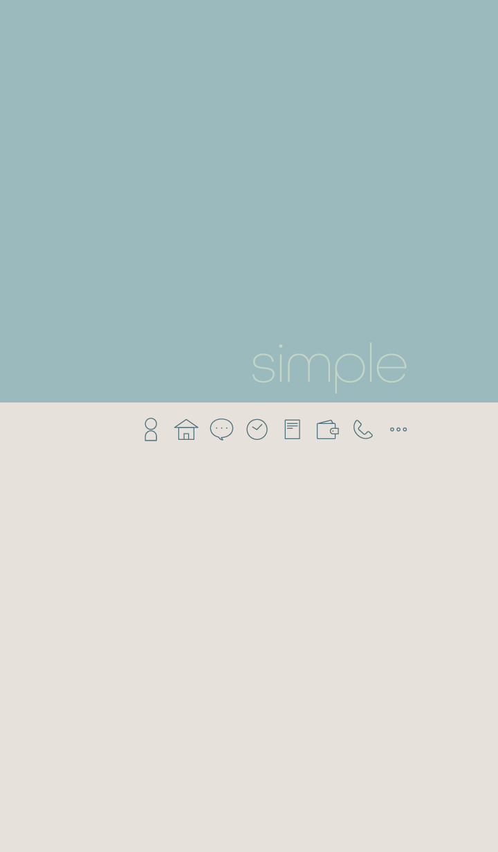simple - blue & beige -