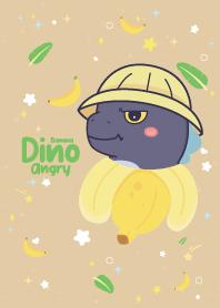 Angry Dino Banana Brown