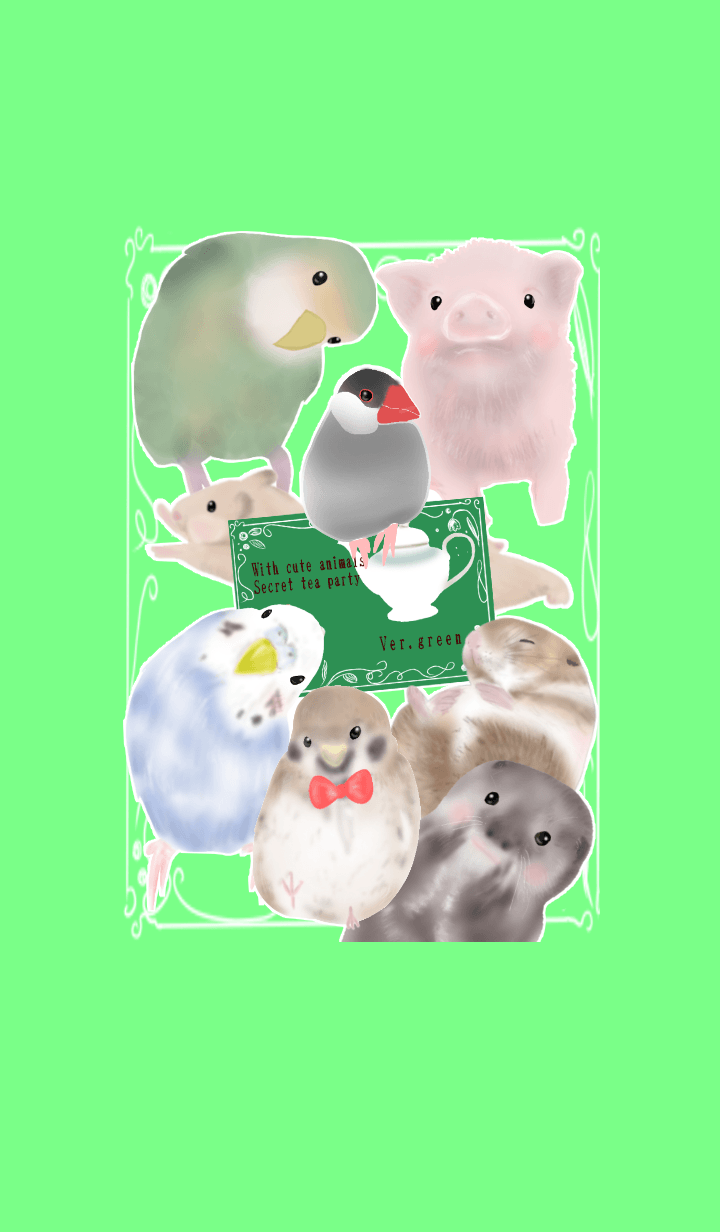 Tea party with cute animal