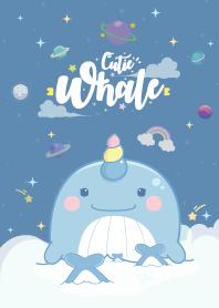 Whale Unicorn Baby Galaxy Pacific Blue