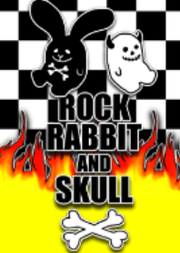 Rock rabbit and skull / street fire