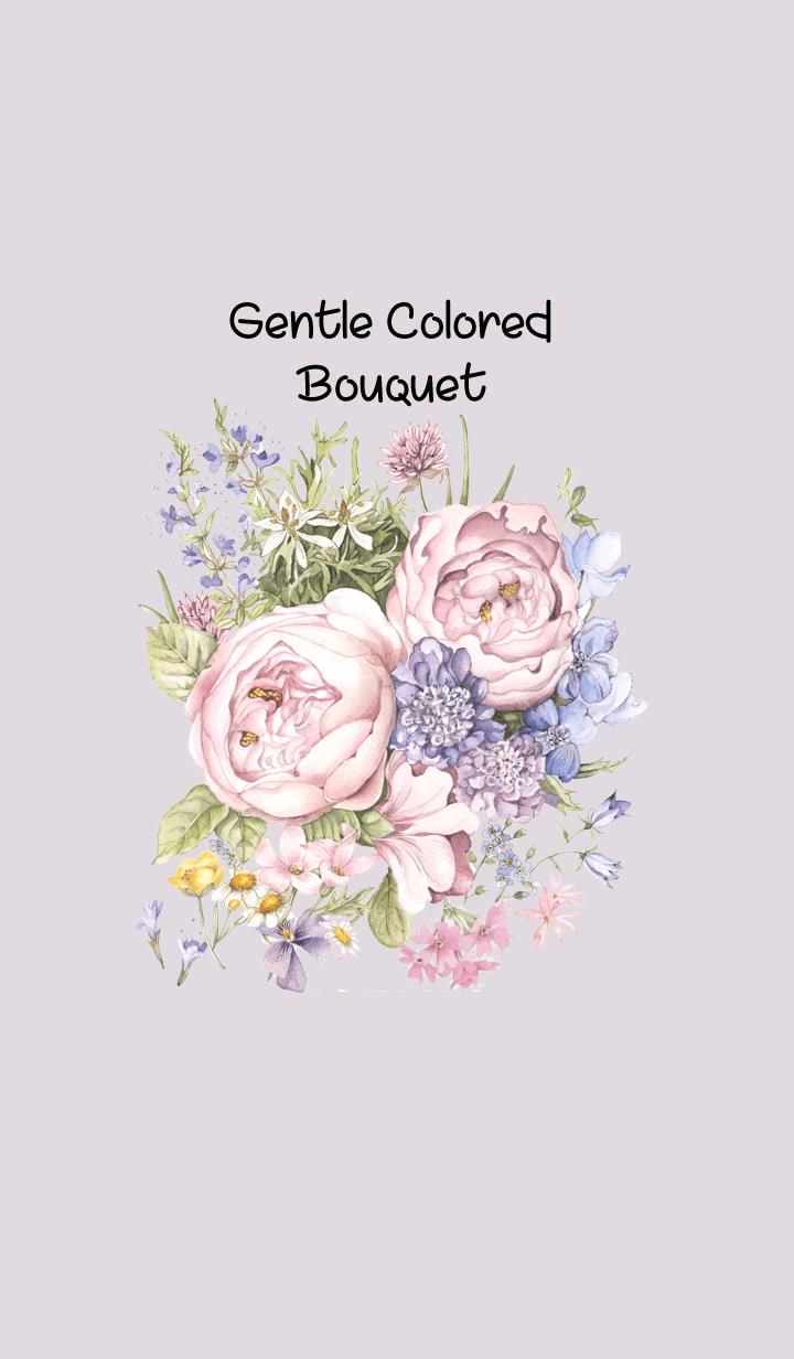 gentle colored bouquet