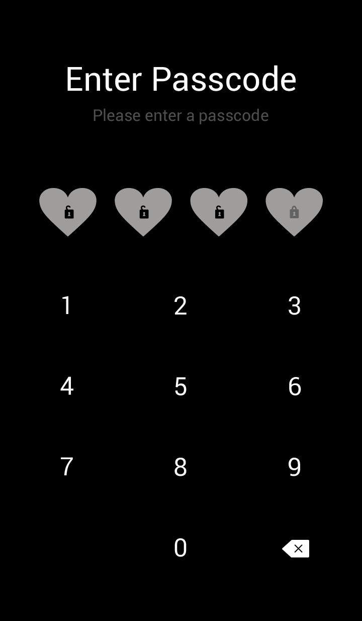 Black heart darkish Gray2 from Japan