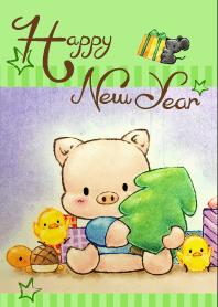 小豬艾米~新年快樂-1